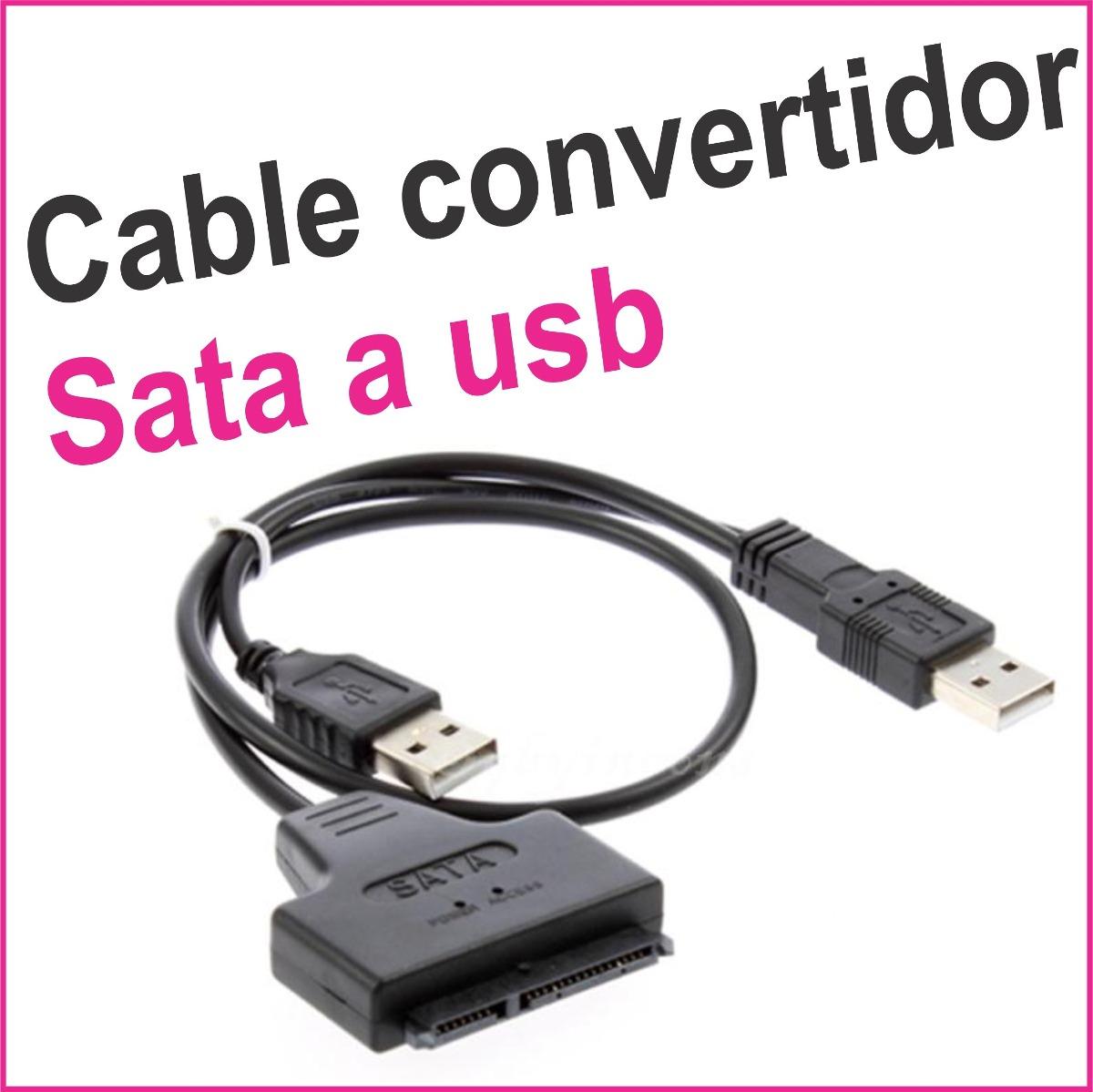 Cable Convertidor De Sata A Usb Disco Duro Interno