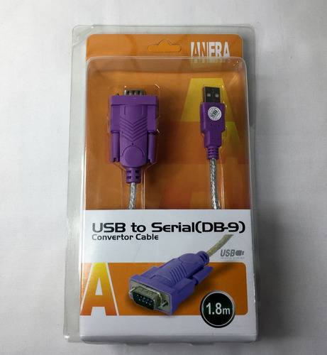 cable convertidor de usb macho a serial db-9 rs-232 macho