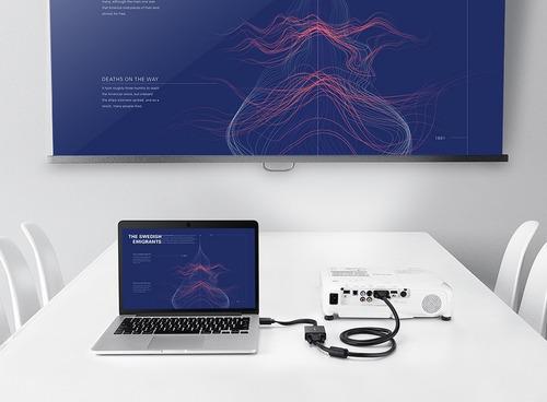 cable convertidor hdmi a vga proyector laptop pc macbook mac