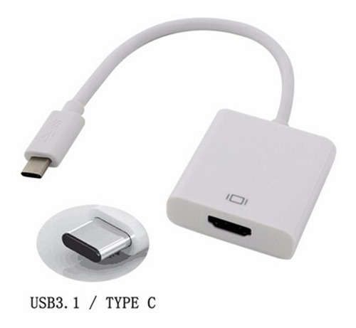 cable convertidor usb 3.1 tipo c a hdmi video cable