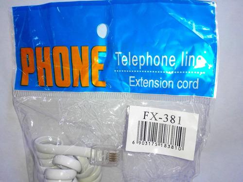 cable cordón telefónico bocina 3 metros telefono