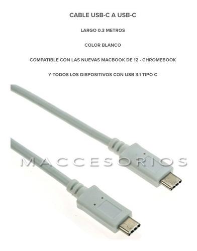 cable corto usb c a usb-c 3.1 para celular, 30cm largo corto