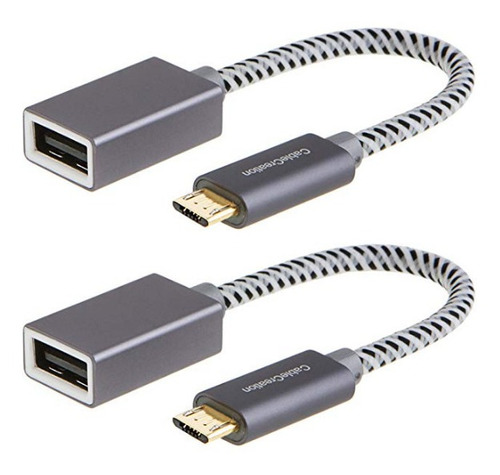 cable creation 2pack usb 2.0 otg micro usb tipo b