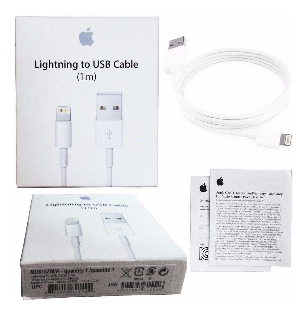 b28529f5bd8 cable + cubo cargador original iphone 5 5c 6 6s 7 8 x ipod. Cargando zoom.