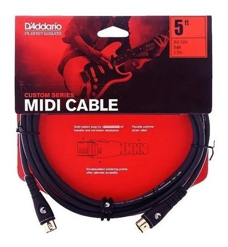 cable daddario pw-md-05 midi 5 conectores dorado 1,50 metros