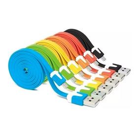 Cable Datos Micro Usb Plano Mallado Sk-fc5p Colores Ditron