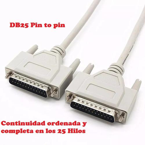 cable db25 macho/macho pin a pin testeado centro csydee pc