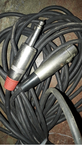 cable de 15 mts plug 1/4 y canon para microfono