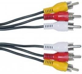 cable de 3 rca a 3 rca 1,50 mts - ximaro