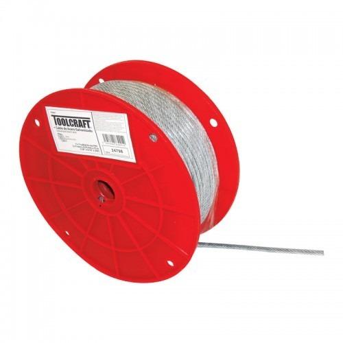 Cable de acero con forro 3 16 x 76 m toolcraft for Cable de acero precio