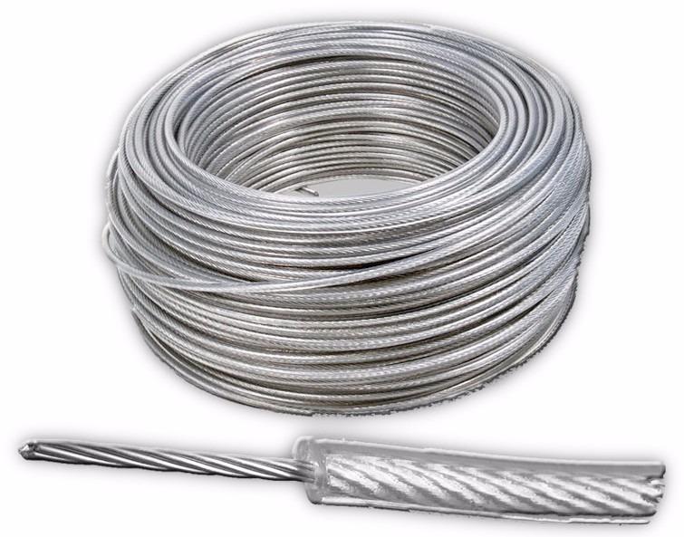 Cable de acero con pvc 7x7 3 32 1 8 y 152 m en for Cable de acero precio
