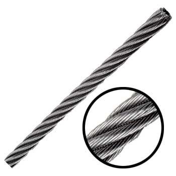 Cable de acero inoxidable 7x19 1 8 pulgadas y 457 metros for Cable de acero precio