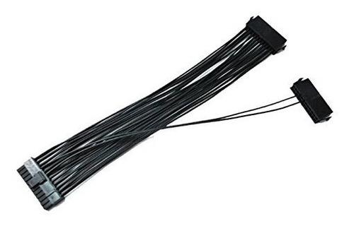 cable de adaptador de placa madre atx 24 pines de fuente de