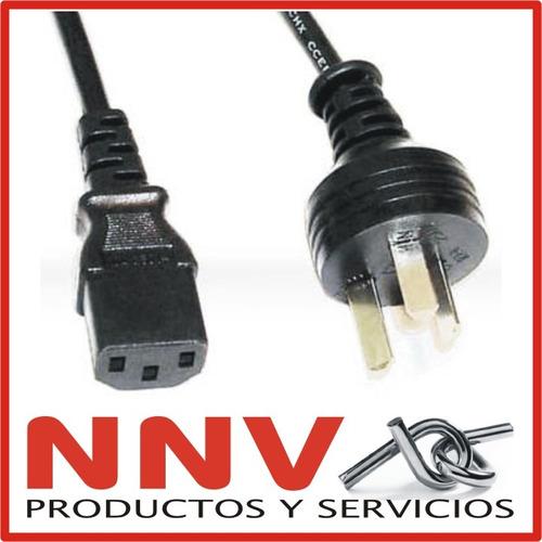 cable de alimentacion power interloock de 3 patas pc monitor