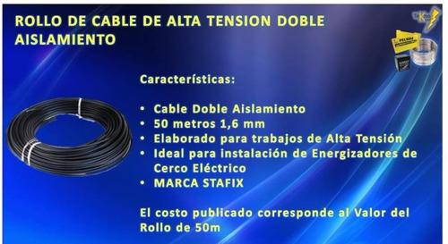 cable de alta tensión cerco eléctrico rollo 50 metros