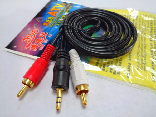 cable de audio auxiliar mini plug 3.5mm a 2 rca macho 1.5mts