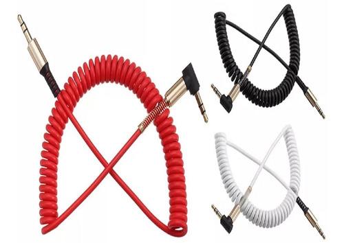 cable de audio auxiliar rulo espiral mini plug jack 3.5