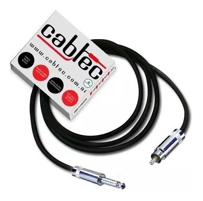 cable de audio cabtec plug ts mono a rca neutrik rean 25cm
