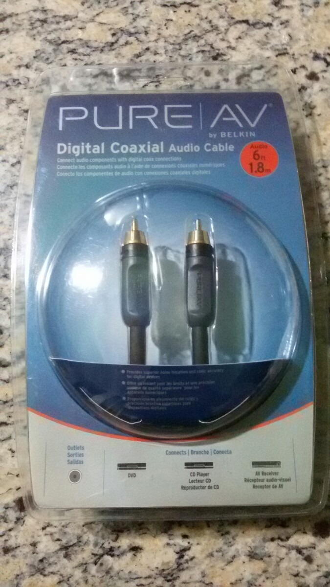Cable De Audio Coaxial Digital Dvd Ps3 Ps4 Bluray Hd - Bs. 2.800,00 ...