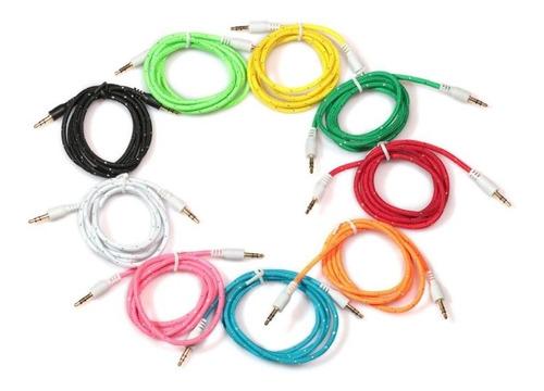 cable de audio cordón 1 metro estéreo auxiliar jack 3.5 plug