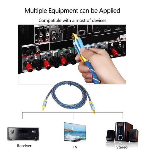 cable de audio digital toslink óptico plateado oro con los c