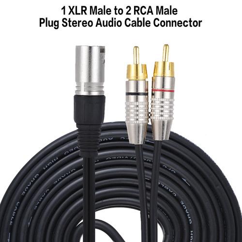 cable de audio estéreo 1 xlr macho a 2 rca macho n.º 1