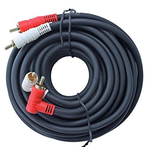 cable de audio estéreo rca dual - ángulo recto a recto 25 pi