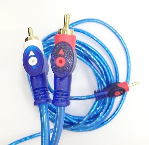 cable de audio miniplug 3.5mm a rca 3 metros auxiliar