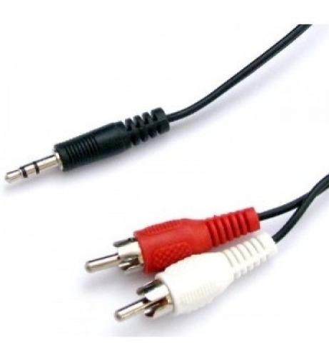 cable de audio miniplug macho a 2 rca  m 1,5mts