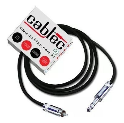 cable de audio plug trs stereo rca neutrik rean 3m cabtec
