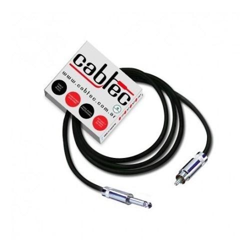 cable de audio plug ts mono a rca neutrik rean 6m cabtec