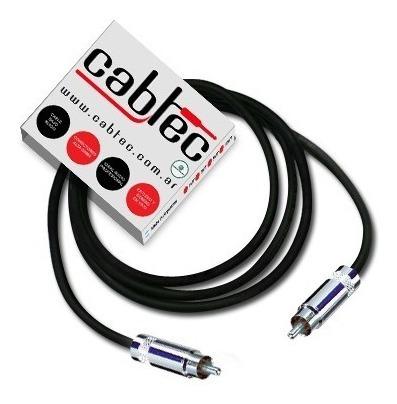 cable de audio profesional cabtec rca rca neutrik rean 25cm
