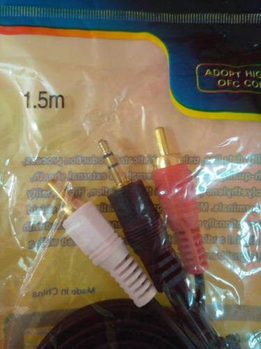 cable de audio rca a plug 1.5m
