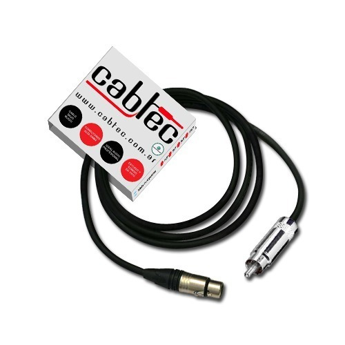 cable de audio xlr canon hembra a rca neutrik rean 1m cabtec