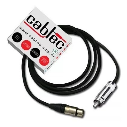 cable de audio xlr canon hembra rca neutrik rean 50cm cabtec