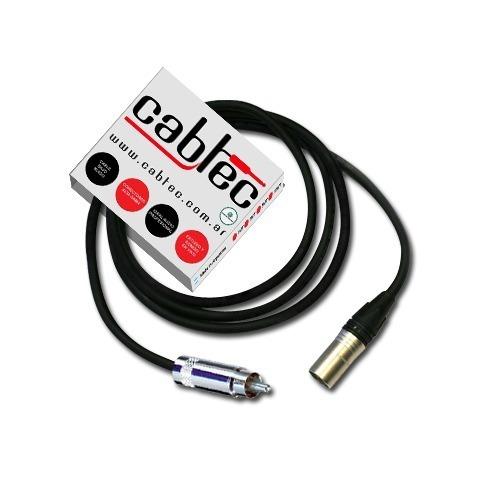 cable de audio xlr canon macho rca neutrik rean 50cm cabtec