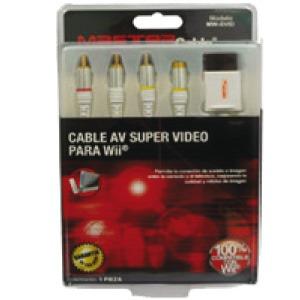 cable de audio y video para consola wii con superlvideo