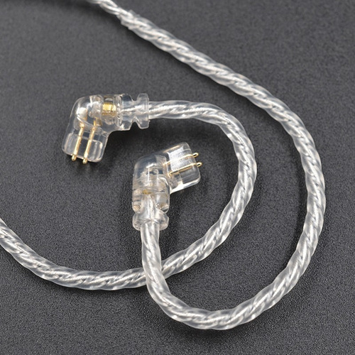 cable de auriculares originales plateados 0.75mm para zsn