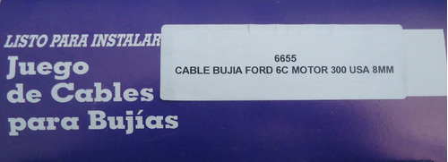 cable de bujia ford 6c motor 300 8mm 6655 rt