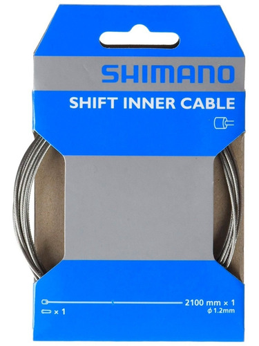 cable de cambio con tope shimano 1.2mm x 2100 mm - ruta - mtb