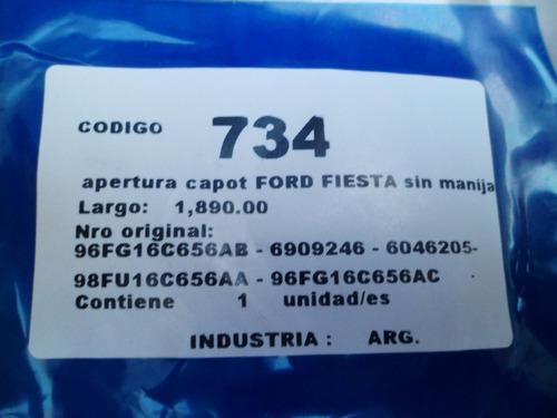 cable de capot ford courier 96/2002 sin manija nuevo