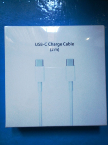 cable de carga / datos usb-c 2mts para equipos apple
