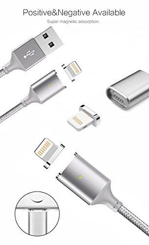 cable de carga magnético durable lightning usb reversible c