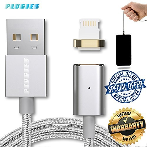 cable de carga magnético durable lightning usb reversible c