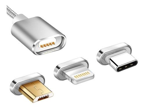 cable de carga magnético microusb - iphone - type c - oferta