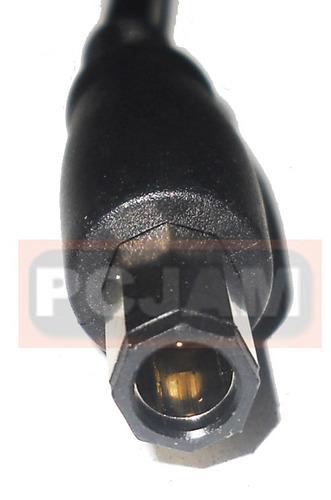 cable de cargador gatewey o dell, instalado