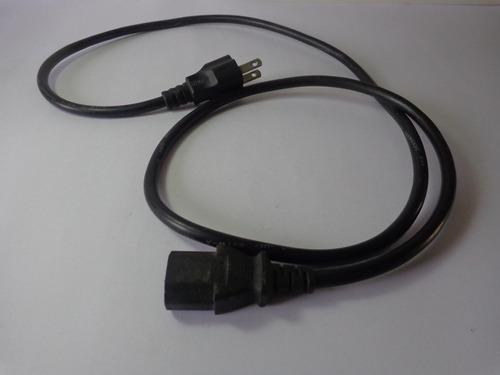cable de corriente para pc monitores fuentes de poder 1 mts