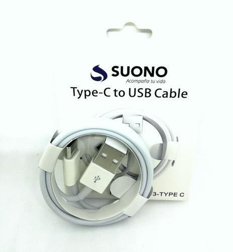 cable de datos celular tipo c xiaomi motorola samsung 2.0a