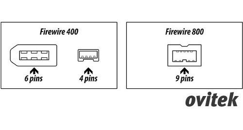 cable de datos firewire 9 pin a 6 pin - firewire 800 a 400