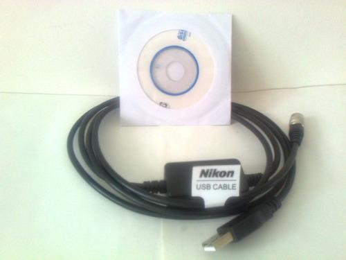 cable de datos nikon y pentax usb estaciòn topcon